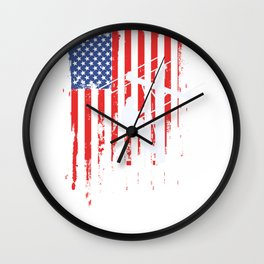 American Lineman Flag graphic Cable Lineman gift design Wall Clock