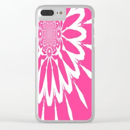 The Modern Flower pink Clear iPhone Case