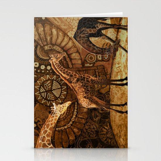 Three Giraffes Stationery Cards