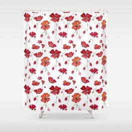 Swedish Poppies Shower Curtain