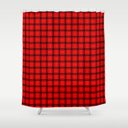 Small Red Weave Shower Curtain