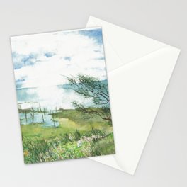 Summer by a lake Stationery Cards