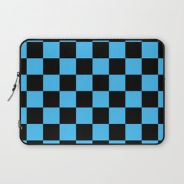 Black and Blue Checkerboard Pattern Laptop Sleeve