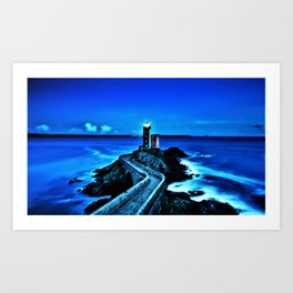 Plouzane Lighthouse, France Landscape by Jeanpaul Ferro Art Print