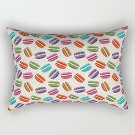 Cute Macarons Pattern with Polka Dots Rectangular Pillow