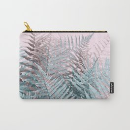 Duotone Fern Jungle on Soft Pink Carry-All Pouch