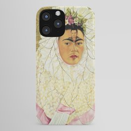 "Frida Kahlo Exhibition Art Poster - ""Diego on my mind"" 1988 iPhone Case"