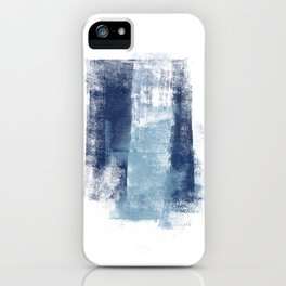 Just Blue and White 1 iPhone Case