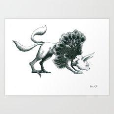 chat paon Art Print