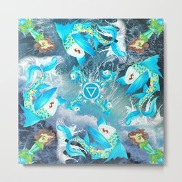 Water/Fish Metal Print