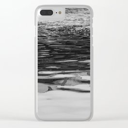 Goose In Black And White Clear iPhone Case