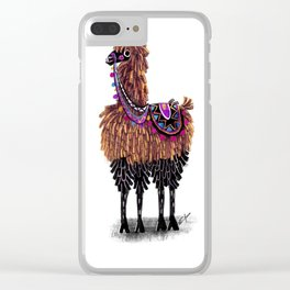 Lovely Lama Clear iPhone Case