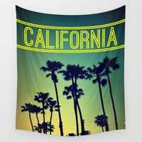 california Wall Tapestries featuring CALIFORNIA by RichCaspian