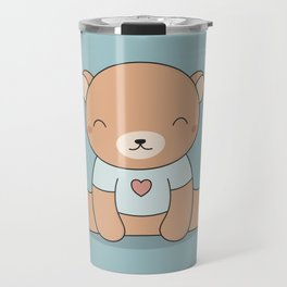 Kawaii Cute Teddy Brown Bear Travel Mug