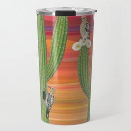 gila woodpeckers on saguaro cactus Travel Mug