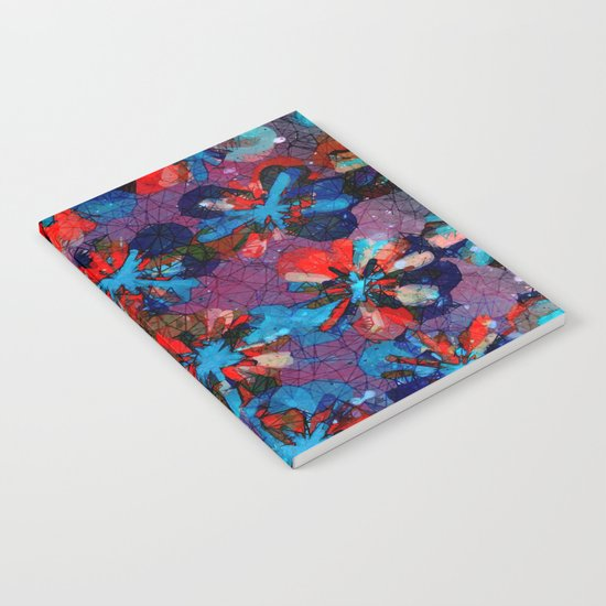 Abstract Flower Pattern  Notebook