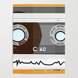 The cassette tape Robot Poster