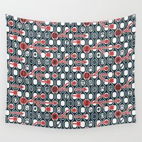 geek Wall Tapestries featuring Geek spirit by Chicca Besso