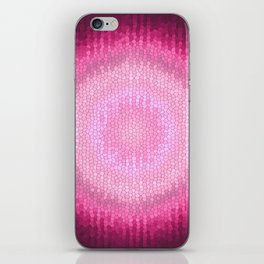 Abstact pink vitrage gradient texture. iPhone Skin
