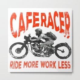 Ride More Metal Print