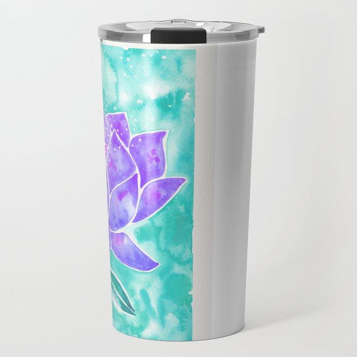 Sacred Lotus – Lavender Blossom on Mint Palette Travel Mug