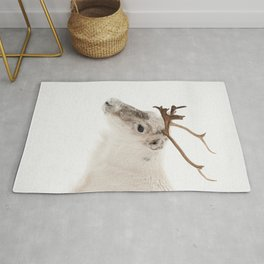 Reindeer In The Snow Photo   Lapland Norway In Winter Art Print   Nature  Animal Travel Photography  Rug