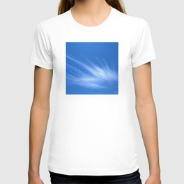 Ivory Strands of Clouds in Bright Blue Sky T-shirt