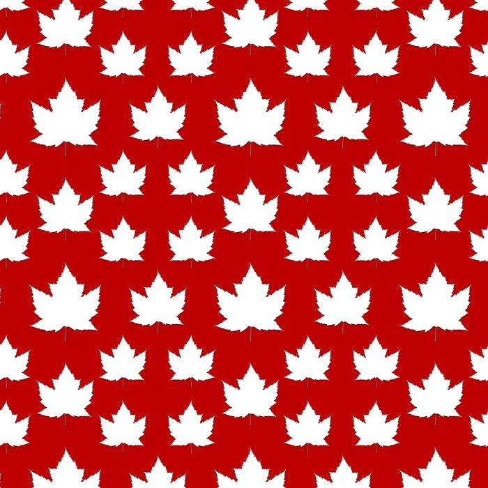 Cute Canada Flag Pattern Leggings