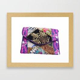 Vintage Gypsy Handmade Tribal Clutch Bag Framed Art Print