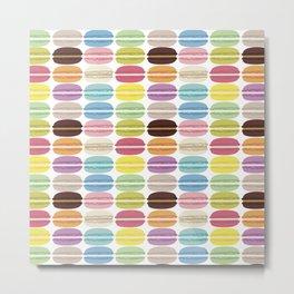 Rainbow Macarons Metal Print
