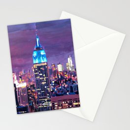 Empire State Building Feeling Like A Blue Giant Stationery Cards