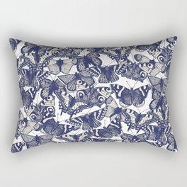 butterfly white Rectangular Pillow