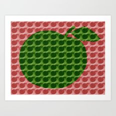 Red And Green Apples Art Print