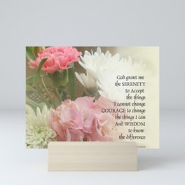 Serenity Prayer Bouquet Mini Art Print
