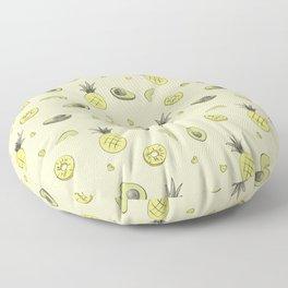 Pineapple and Avocado Floor Pillow
