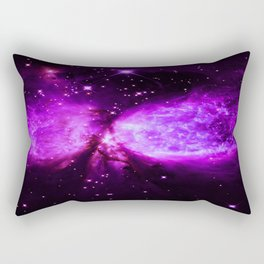 Space Galaxy : A star is born Purple Rectangular Pillow