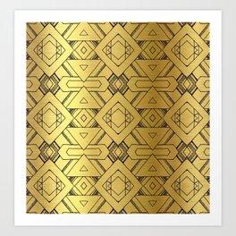 "Black and ""gold"" design Art Print"