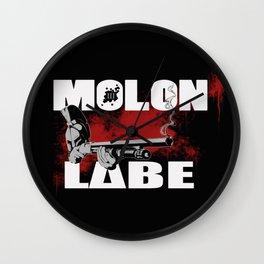 Molon Labe III Wall Clock