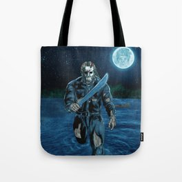 Hockey Masked Killer Tote Bag