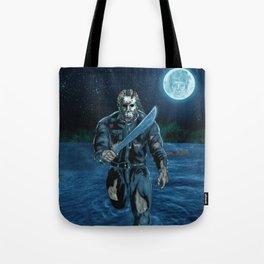 Hockey Masked Killer Tote Bag