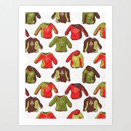 Trendy Nordic Christmas Jumper Art Print