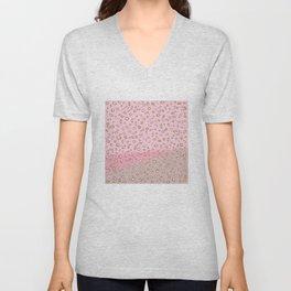 Spotted gradient. pink. brown. Unisex V-Neck