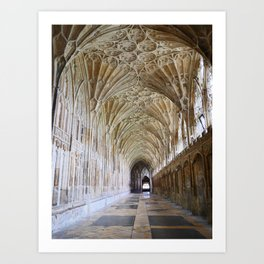 Magnificent Church Cloister | Gloucester Cathedral | England | Fine art travel photography Art Print