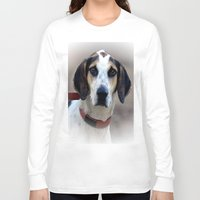 the hound Long Sleeve T-shirts featuring Hound 2 by Doug McRae