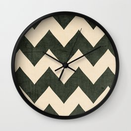 Vintage Vinyl - Black Chevron  Wall Clock
