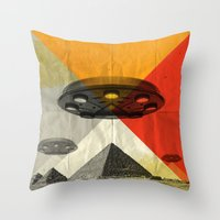 return Throw Pillows featuring the return by Vin Zzep
