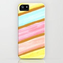Retro Watercolor Stripes  iPhone Case