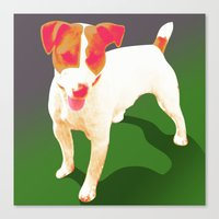 jack russell Canvas Prints featuring Jack Russell by Ken Surman