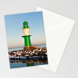 Mole in Warnemuende Stationery Cards
