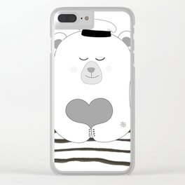 Coastal bear Clear iPhone Case